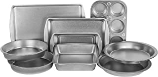 product image for G & S Metal Products Company EZ Baker Steel Bakeware, Set of 9, Gray