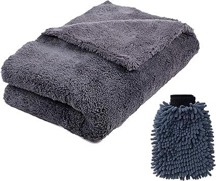 Professional Car Wash and Detail Microfiber Ultra Soft MicroFleece Wash Mitt 6