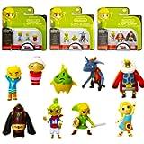 World of Nintendo Legend of Zelda Micro Land Bundle - 9 Pc The Legend of Zelda Toys Action Figures (The Legend of Zelda…