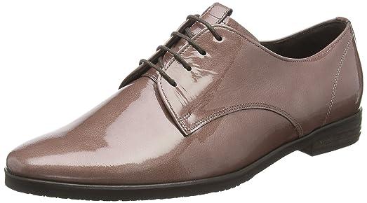 BronxBvinoX - Zapatos Planos con Cordones Mujer, Color Plateado, Talla 36