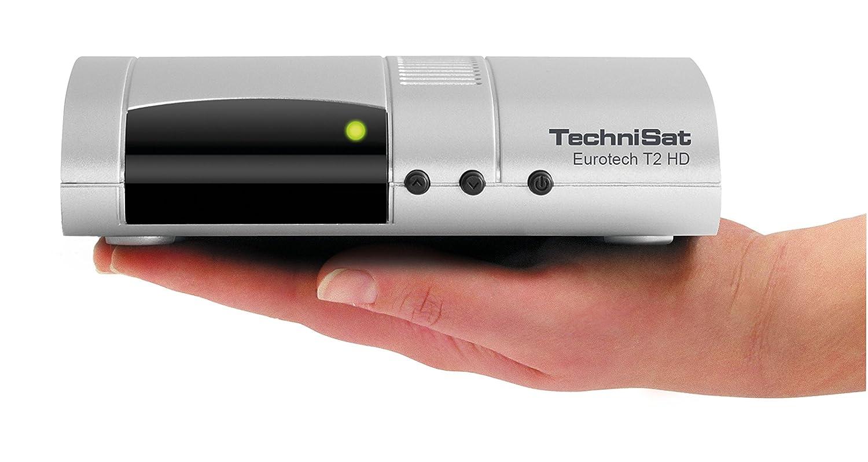 mit Multimedia-Player und Bicolor-LED-Display TechniSat EUROTECH T2 HD Digital-Receiver mit Single-Tuner f/ür Empfang in HD silber