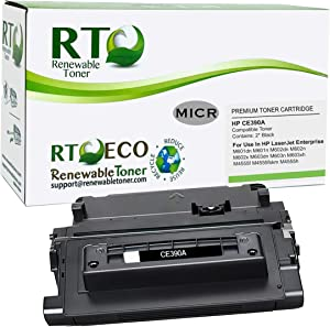 Renewable Toner Compatible MICR Toner Cartridge Replacement for HP CE390A 90A for use in HP Laserjet 600 M601 M602 M603 M4555 MFP