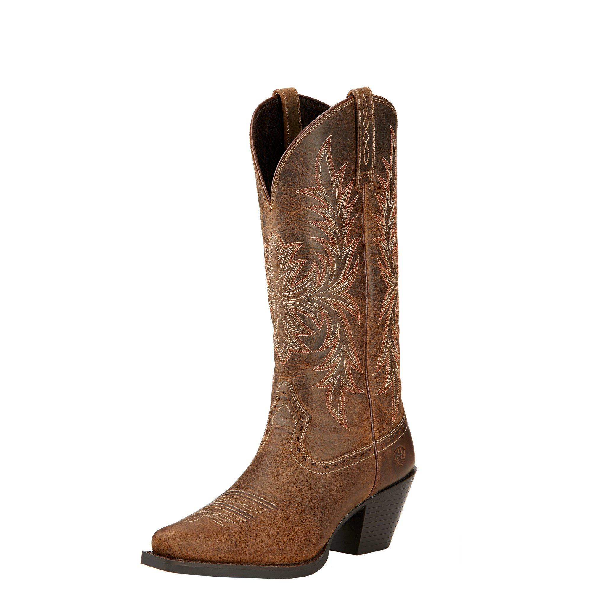 Ariat Womens Round Up Maddox New West 8 B Distressed Brown