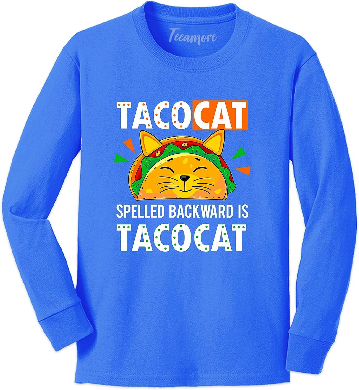 Tacocat Spelled Backwards Taco Cat Shirt Mexican Food Toddler Girl Boy Long Sleeve T-Shirt