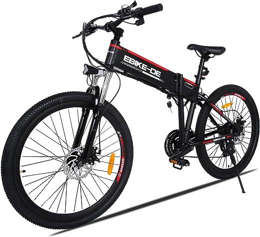 Buyi-World Bicicleta de Montaña Electric 26