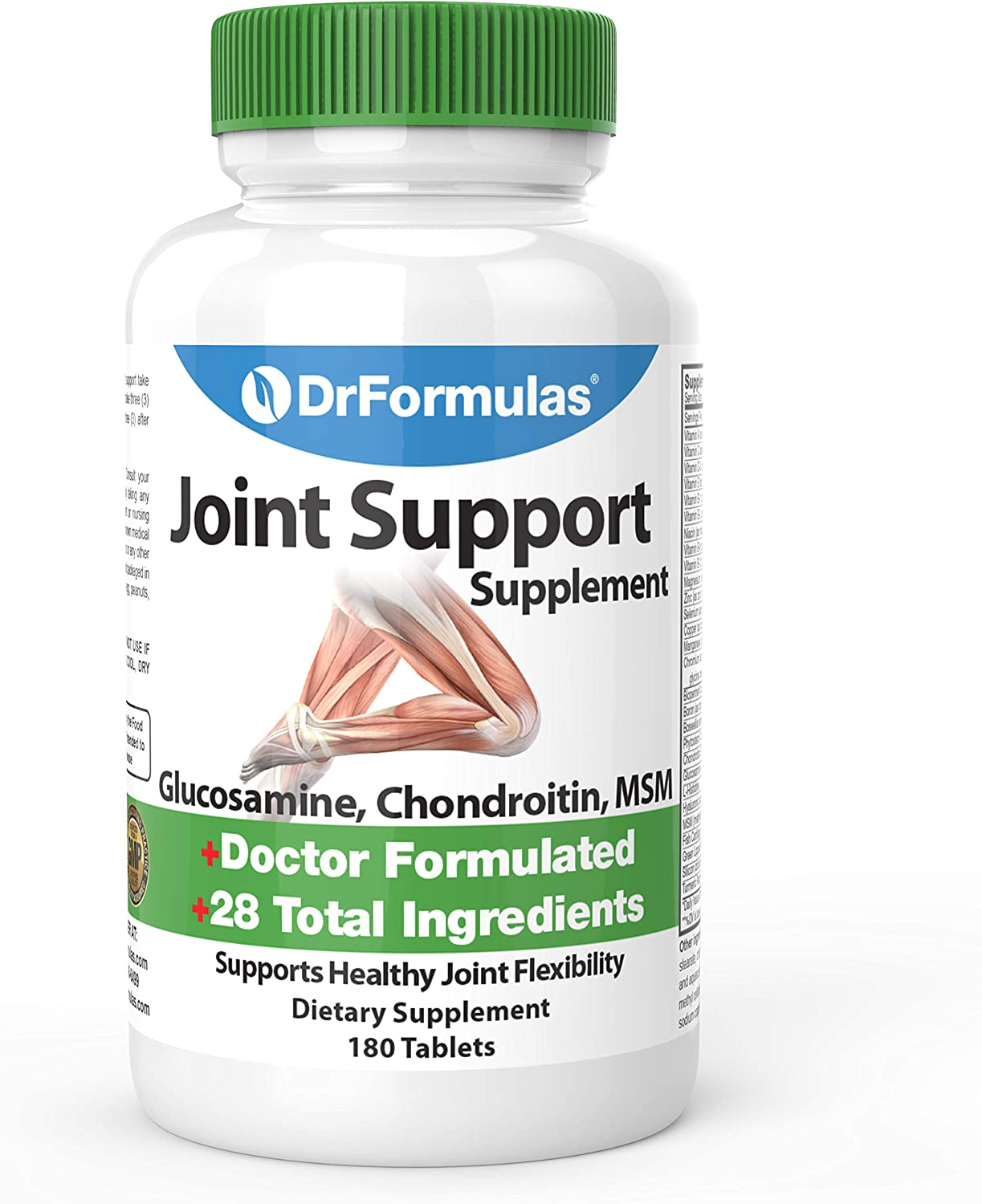 DrFormulas Joint Support Supplements for Men & Women | Pain Relief Health Inflammation Glucosamine Chondroitin Msm, (Mendamine) 60 Day Supply