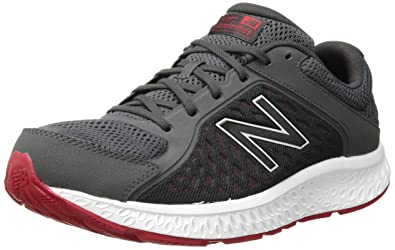 672246a595d New Balance Men's 420v4 Cushioning Running Shoe, Grey/Red, 7 D US
