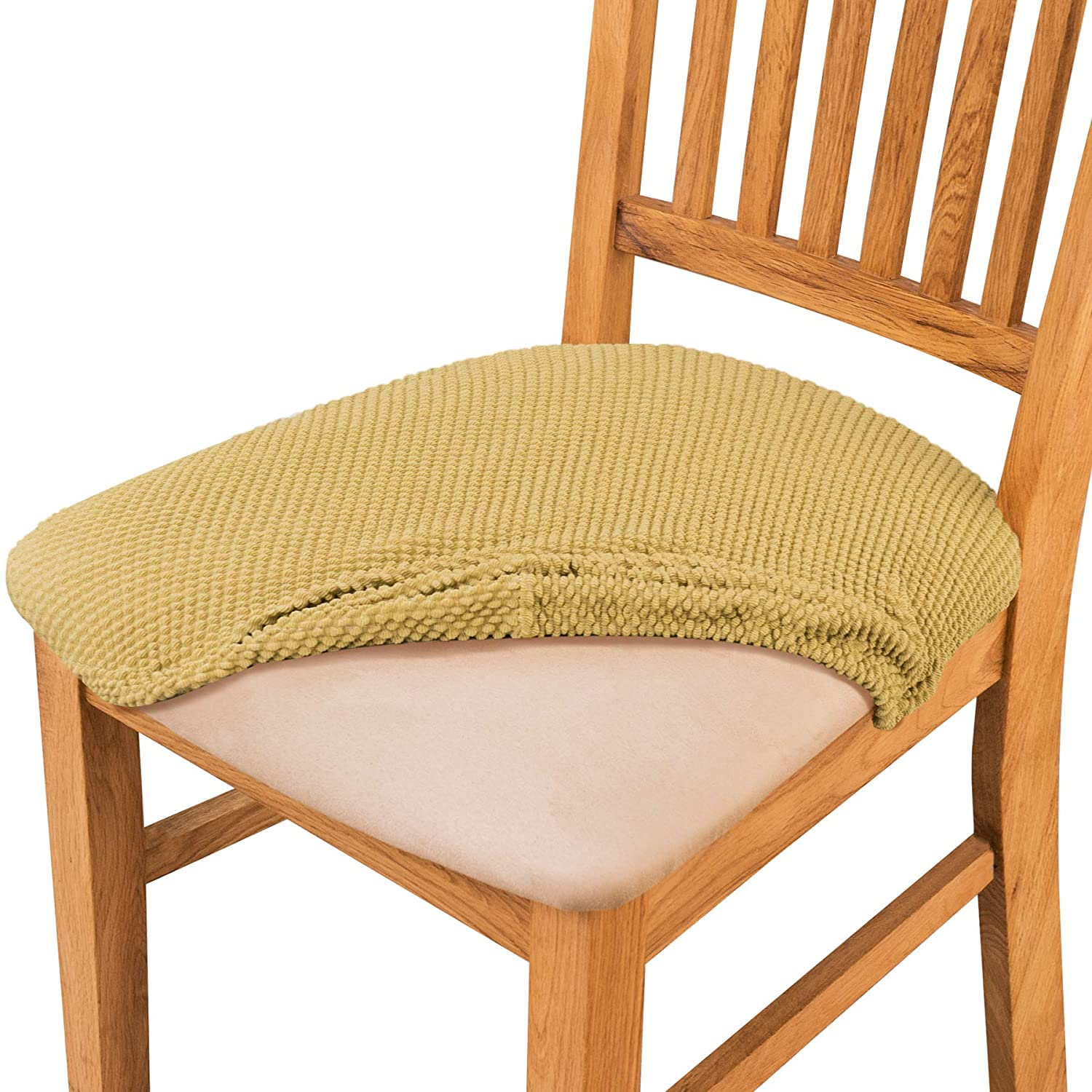 Groovy Subrtex Jacquard Dining Room Chair Slipcovers Sets High Stretch Chair Furniture Protector Covers Removable Washable Elastic Seat Cover For Chair Short Links Chair Design For Home Short Linksinfo