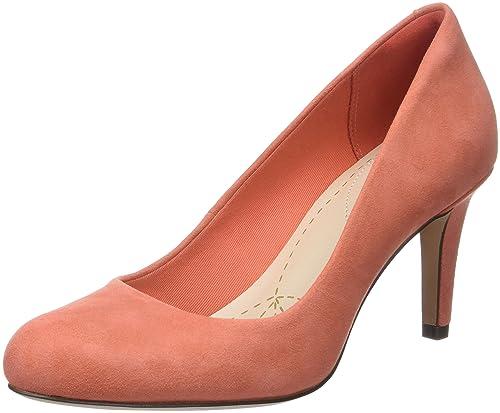 Clarks Carlita Cove, Mocasines para Mujer, Naranja (Coral Suede), 35.5 EU: Amazon.es: Zapatos y complementos