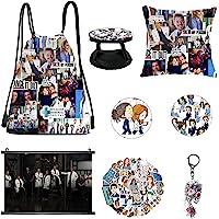 Greys Anatomy Merchandise,Drawstring Bag,Pillowcase,Keychain,Stickers,Brooch,Phone Holder,Poster