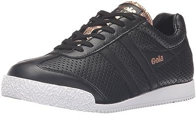 f4e2d5dfb641 Gola Women s Harrier Glimmer Leather Fashion Sneaker Black Rose Gold 8 ...