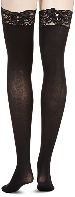 70e5456f5a6 Amazon.com  Leg Avenue Womens Corset Lace Top Thigh Highs  Adult Exotic  Hosiery  Clothing