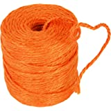 Burlap Jute Twine Rope 3 Ply 75yd Spool Choose Color (ORANGE)