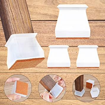8//16pcs Silicon Furniture Leg Protection Cover Floor Protector Table Base Cover