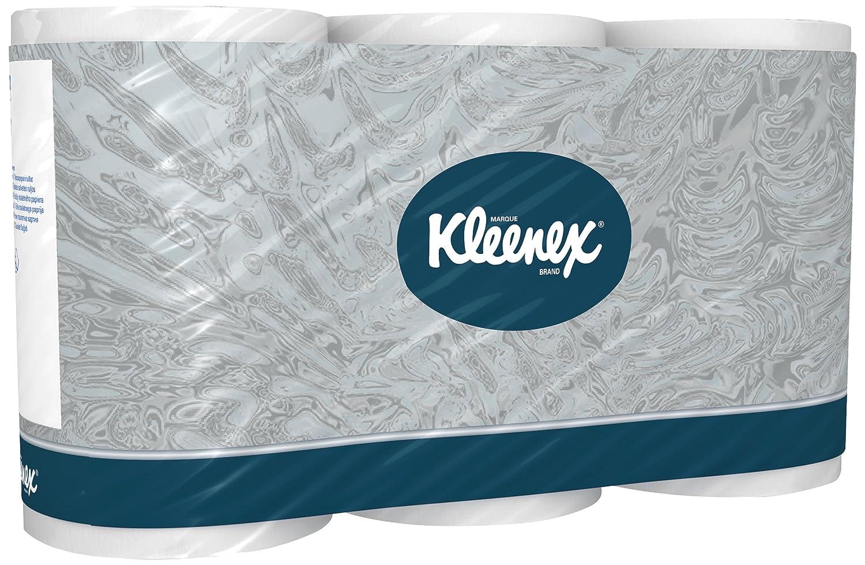 Kleenex 8440 Toilet Tissue Rolls, White, Three Ply Sheets, 36 Rolls x 350