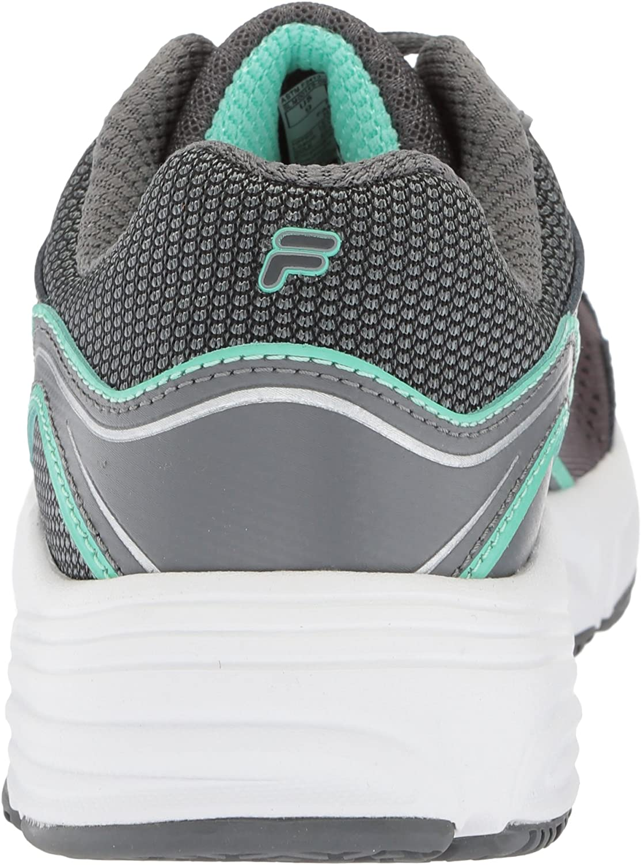 Fila Women's Memory Runtronic Slip Resistant Running Shoe Castlerock/Monument/Cockatoo