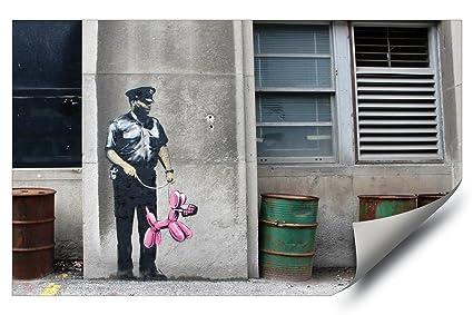Banksy Street Graffiti Police Guard Dog Balloon Animal Hd Vinyl Wall Art Poster Decal Sticker