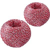 Westmark Keukentouw/rolladetouw, 2 stuks, speciaal garen, polyester, lengte: 60 m, rood/wit, 15192260