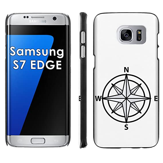 Samsung Galaxy [S7 EDGE] Phone Cover, Compass- Black Slim Clip-on Phone  Case for [Samsung Galaxy [S7 EDGE]]
