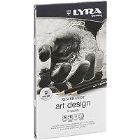 LYRA Rembrandt Art Design Çizim Kalemi, 12'li Metal Kutu, Karışık Dereceler