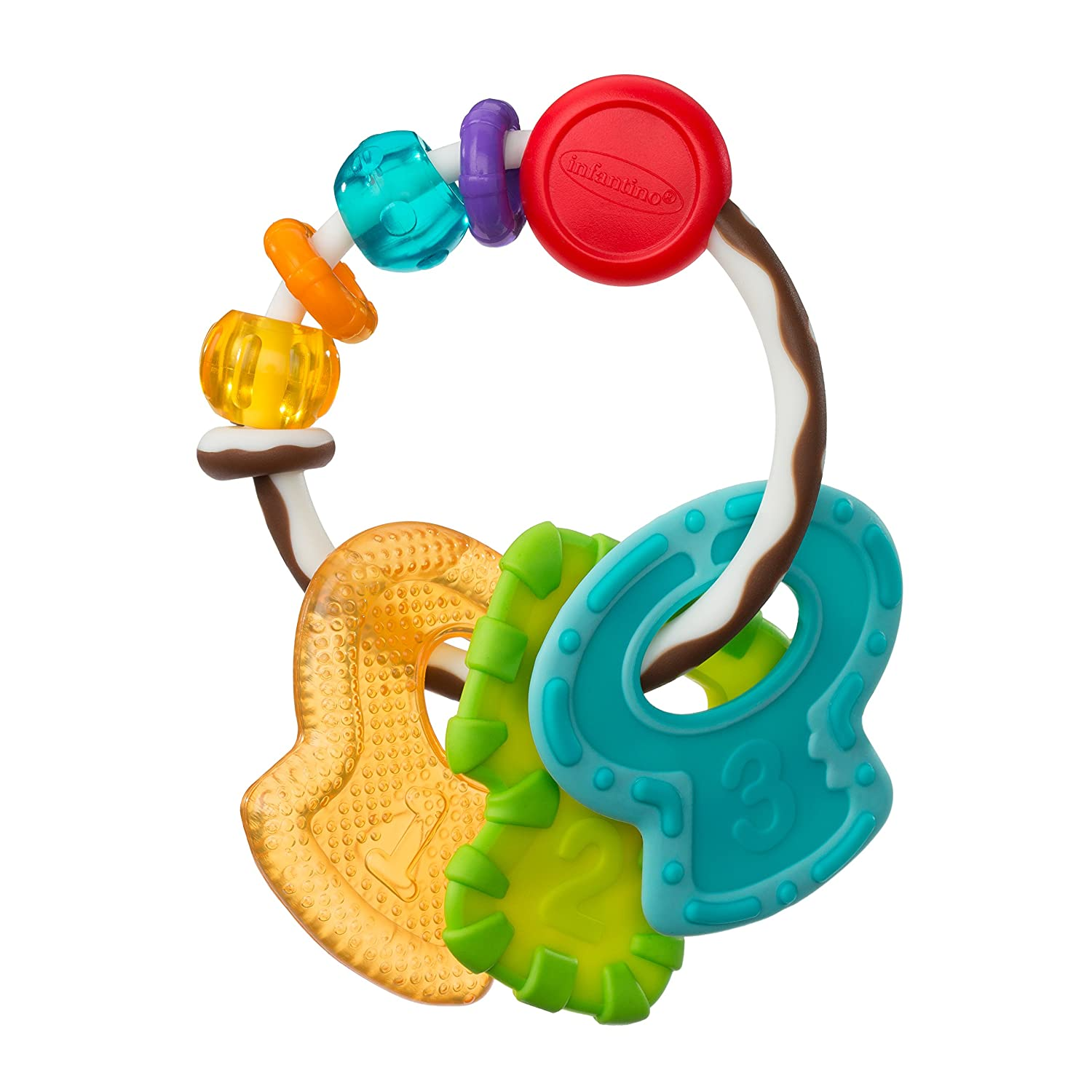 Infantino Bkids Slide and Chew Teether Keys