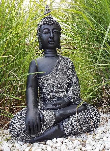 Estatua hecha a mano Figura decorativa de Buda Accesorio de Feng Shui para meditático en el jardín o habitación Buddha Resistente a las heladas: Amazon.es: Bricolaje y herramientas