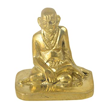 Buy Swami Samartha God Brass Collectible Handicraft Small Art By