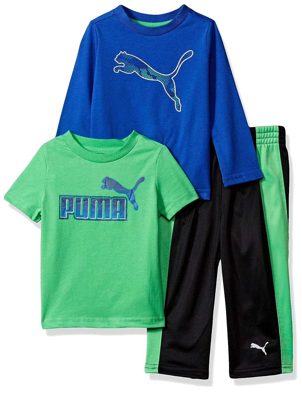 PUMA Baby-Boys Boys' Three Piece T-Shirt and Pant Set Sweatsuit