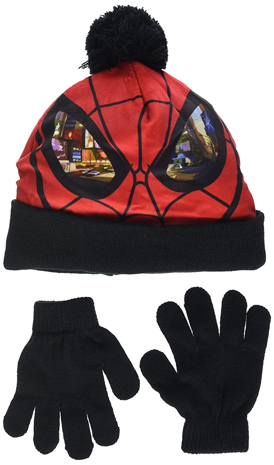 DC Comics Spiderman Eyes, Set Sciarpa, Guanti e Cappello Bambino