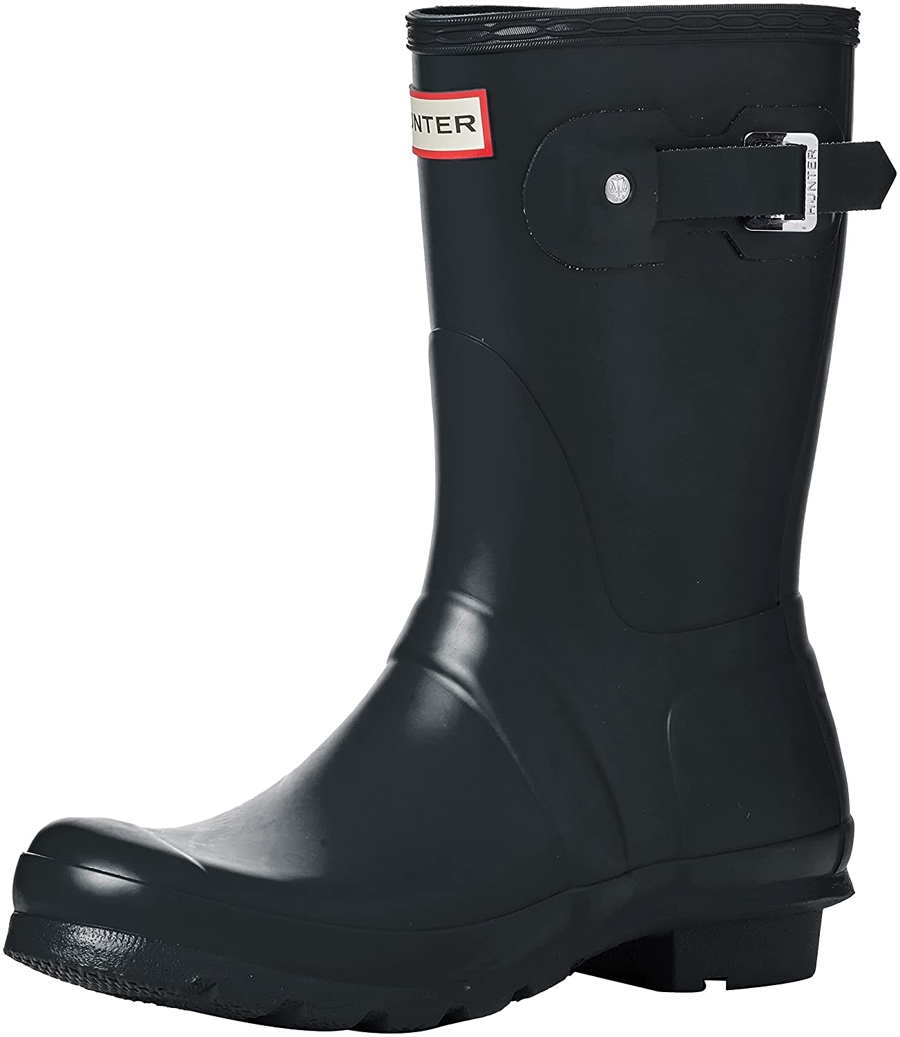 Hunter Women's Original Short Rain Boot B01MS8P8WX 5 B(M) US|Dark Slate