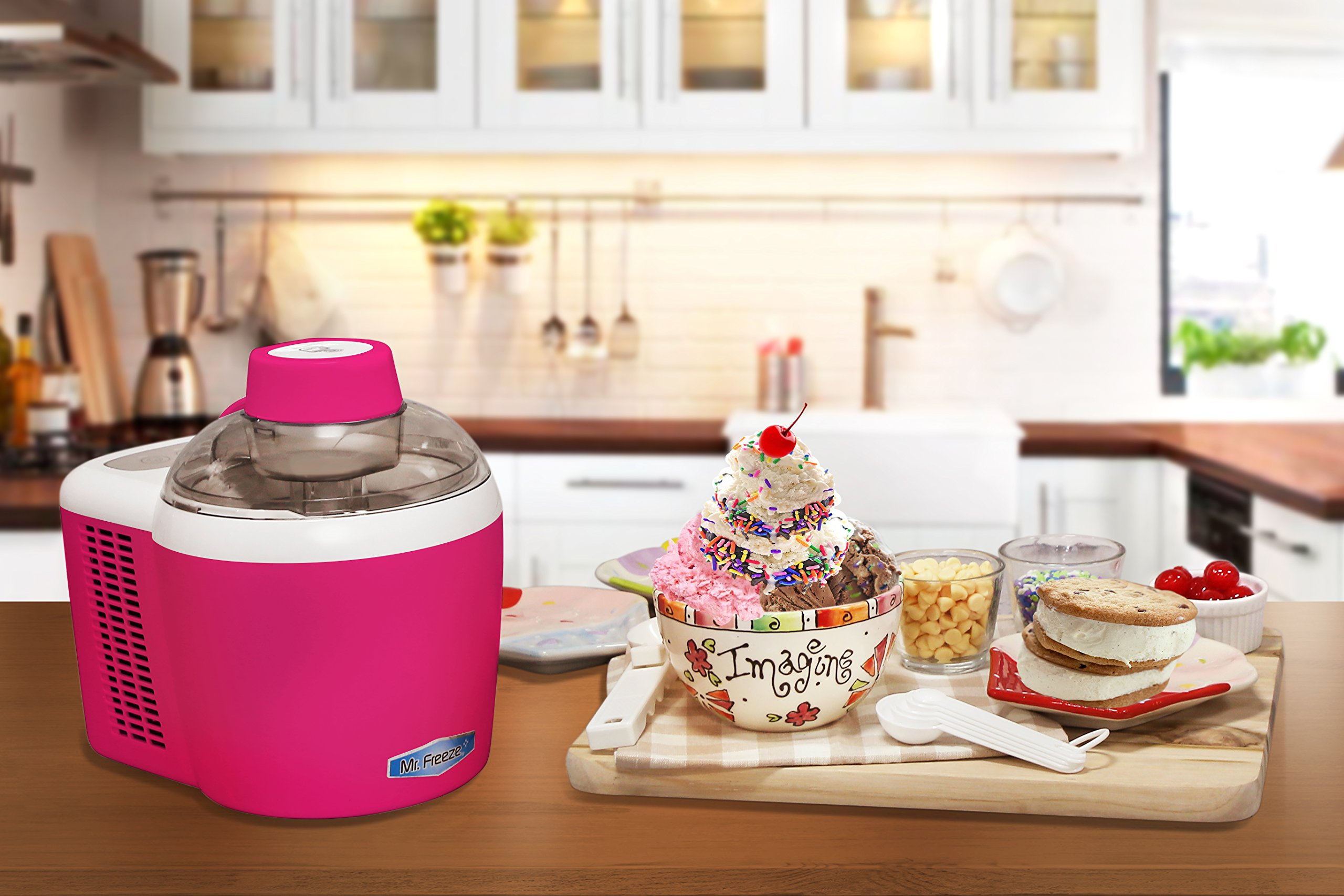 Mr. Freeze EIM-700BR Maxi-Matic 1.5 Pint Thermoelectric Ice Cream Maker, Berry by Mr. Freeze (Image #7)