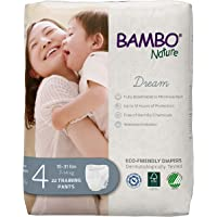Bambo Nature Premium Eco-Friendly Training Pants, Size 4 (15-31 Lbs), 110 Count (5 Packs of 22)