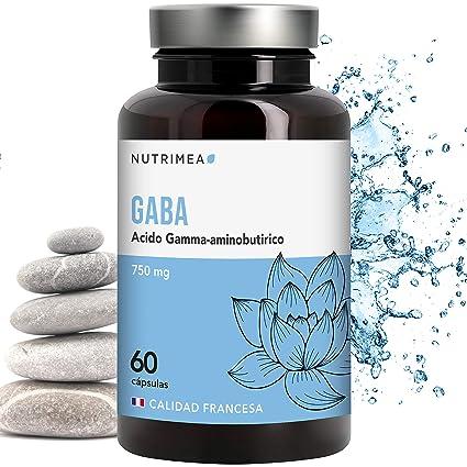 Gaba Contiene Acido Gamma Amino Butírico Relajante Natural Alivio Estres Ansiedad Insomnio Bienestar Neurotransmisor Complemento Alimenticio