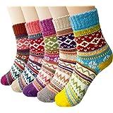 Women's Socks Fuzzy Novelty Cozy Warm Thick Wool Vintage Cashmere Crew