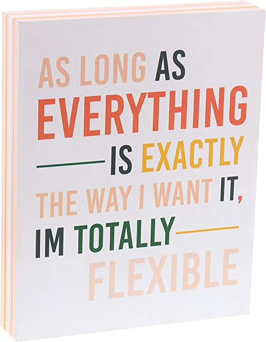 "Barnyard Designs As Long As Everything is Exactly The Way I Want It, I'm Totally Flexible Box Sign Funny Quote Decorative Wood Wall Decor for Home and Office 10"" x 8"""