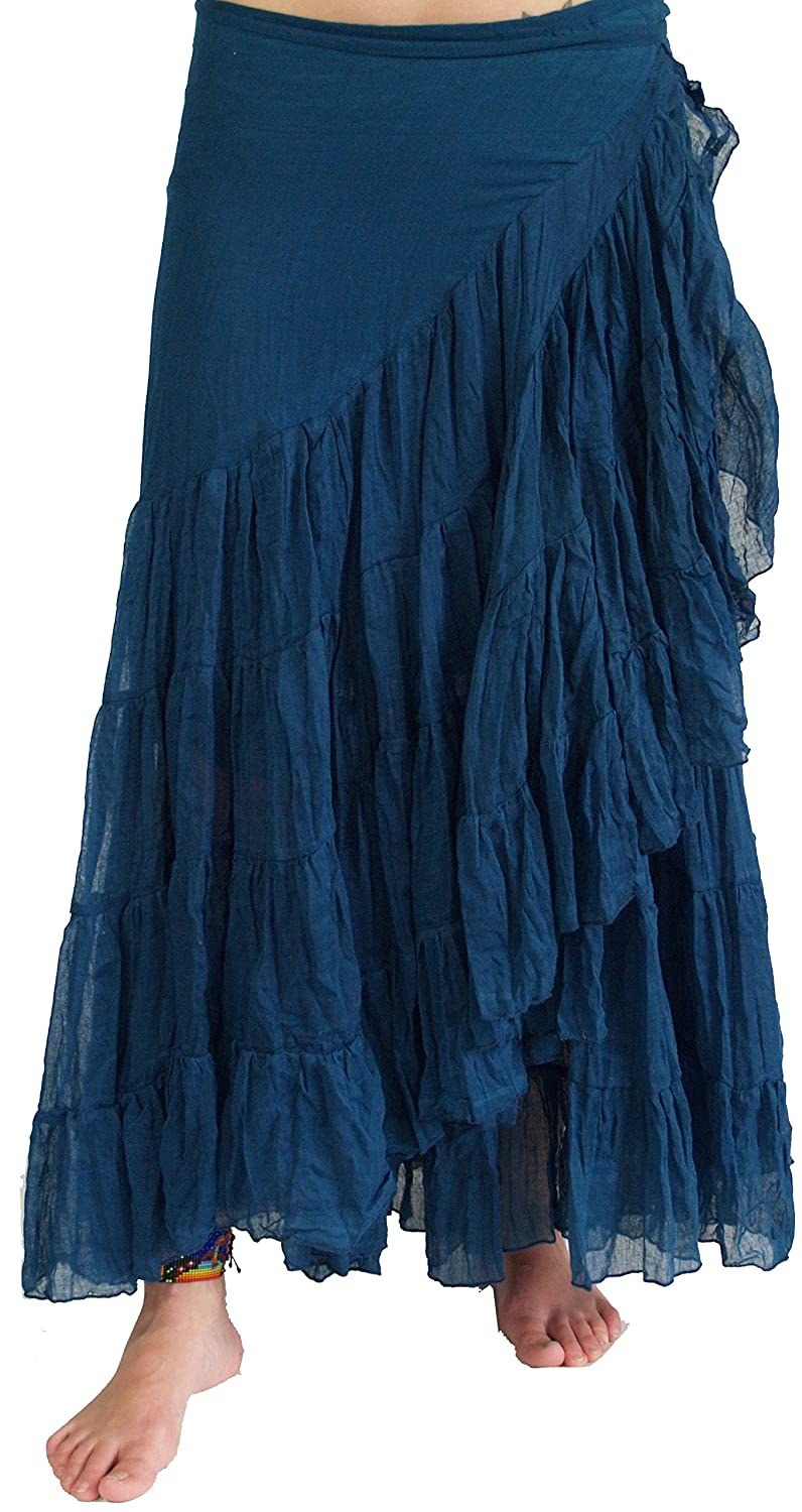 Long wrapping skirt hippie skirt ma-10 in 5 colors / Long skirts