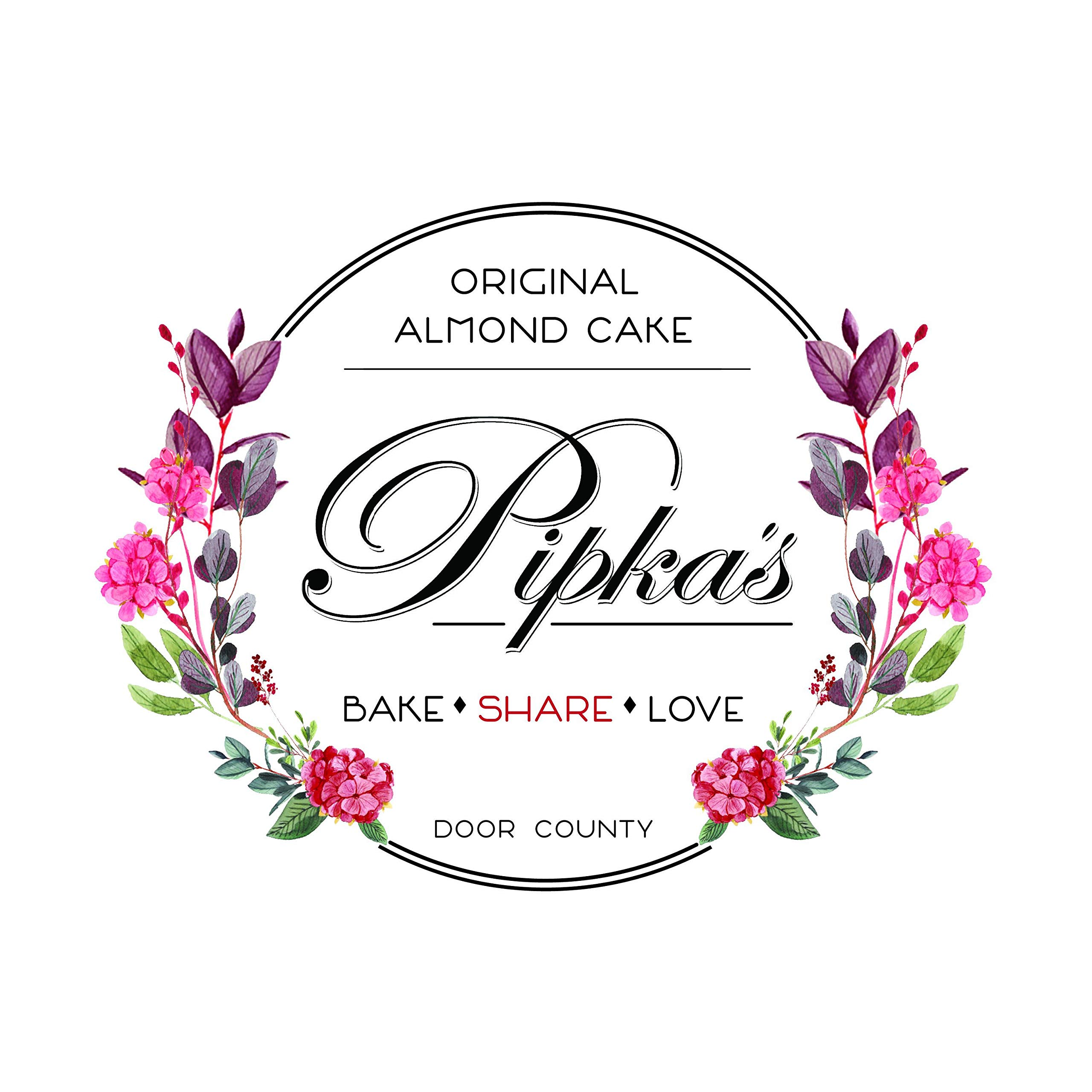 Pipka's Almond Cake Pan. ONE pan and ONE original recipe with over 40 variations. EASY release, non-stick PFOA FREE finish makes baking Pipka's Original Almond Cake easy. FREE recipe booklet.