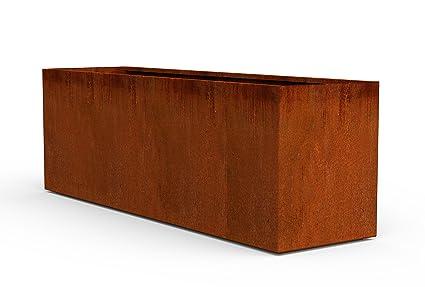 Charmant PLANTERCRAFT Corten Steel Planter, Long Rectangle Planter Box, 72u0026quot;  Length, 20u0026quot;
