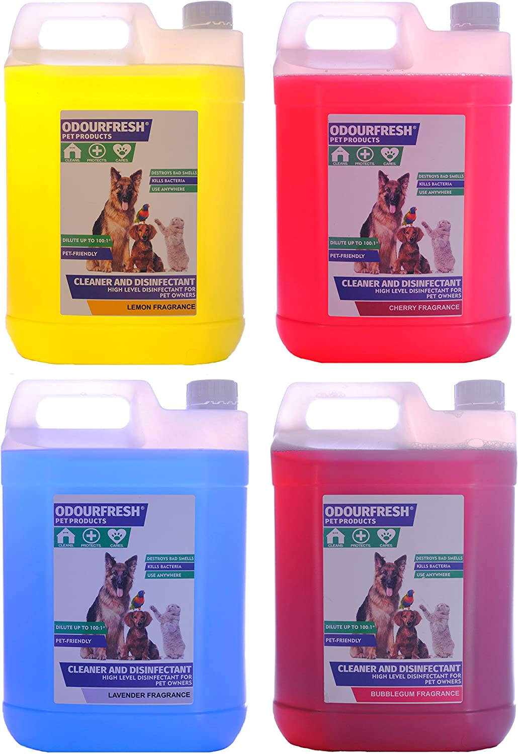 Odourfresh 4x5l Pet Disinfectant Kennel Deodoriser Choose Your Own Fragrances 12 Available Suitable For Dogs Cats Horses Rodents And More Amazon Co Uk Pet Supplies