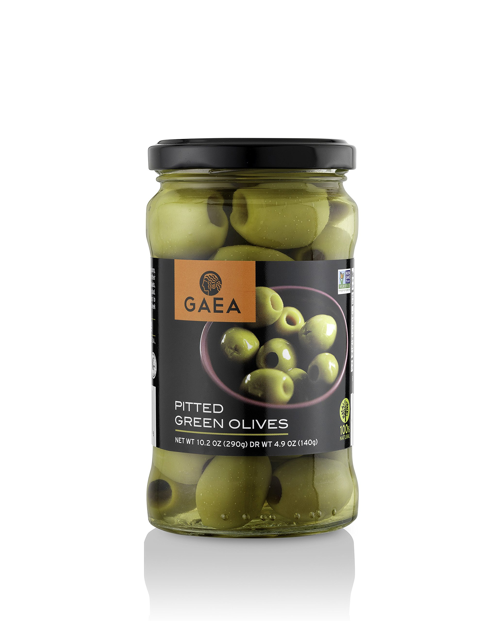 Gaea Olympian Pitted Olives, 5.1-Ounce Jars (Pack of 8)