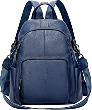 ALTOSY Real Leather Anti-Theft Backpack Purse for Women Ladies Shoulder Bags