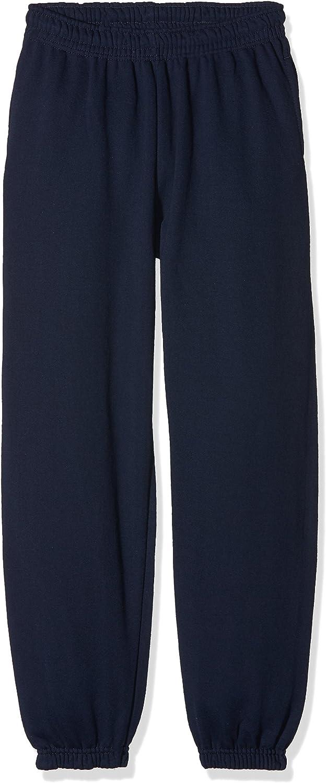 Unisex ni/ños Pack de 2 Fruit of the Loom Elasticated Cuff Classic Pantalones de Deporte
