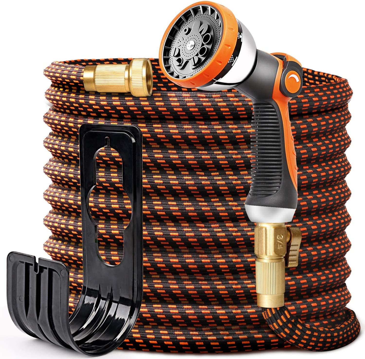 50ft Expandable Garden Hose - Kink Free Flexible Water Hoses with 9 Functions Nozzle, Expanding Hose Yard Hose Lightweight for Outdoor Garden Watering, Cleaning, Car Washing