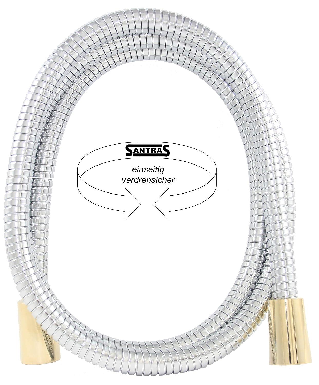 anti-torsion unilat/éral Santras flexible de douche en m/étal rouge 1,60 m