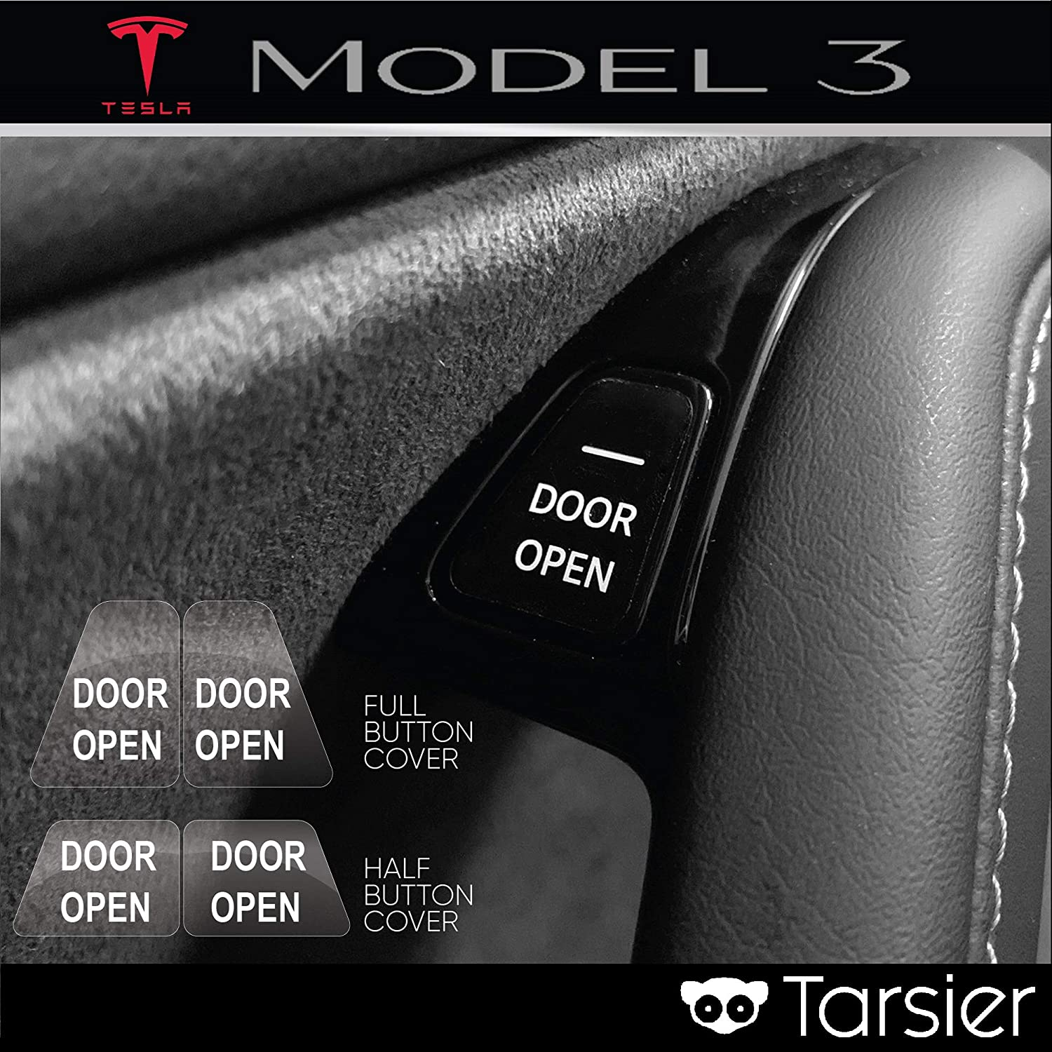 Tesla Model 3 Open Door Button Decal//Labels//Stickers and Emergency Lever Labels