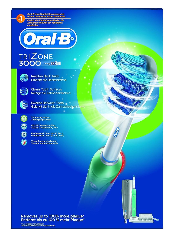 ORAL-B Cepillo de dientes eléctrico TriZone 3000: Amazon.es: Salud y cuidado personal