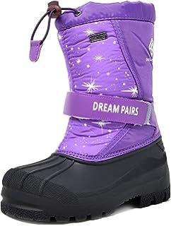Little Kid//Big Kid IKENIP Kids Boys Snow Boots Lightweight Warm Outdoor Waterproof Cold Weather Winter Shoes for Girl