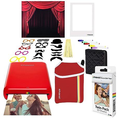 Polaroid Zip Impresora de Fotos Inalámbrica (Rojo) Paquete ...