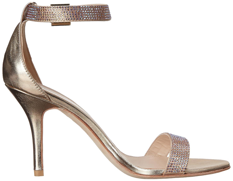 Pelle Moda Women's Kacey Dress Sandal B010BUG1HY 10 B(M) US|Platinum Gold