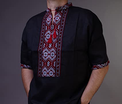 Amazon.com  EASTER SALE! VYSHYVANKA mens Ukrainian Embroidered Shirt ... 6612bc330